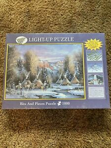 Light-Up Puzzle Bits and Pieces 1000pc Indian Village *NEW*
