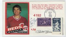 Baseball Pete Rose, Eric Show Hand Signed Autographed '85 Cover 4192 Hits