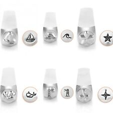 Metal stamp, punch, metal jewellery stamping, sea life punches, nautical stamps