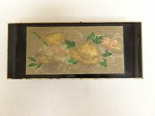 Vintage jewelry Music box Japan works Yokohama wood Oriental Regency foil tag