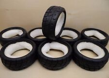 8 x New Intermediate Tread 1/10 On Road Tyres w/Inserts By Trickbits Touring Car