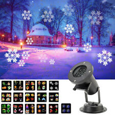 Outdoor LED Moving Laser Projector Light Christmas Xmas Projected 16 Pattern