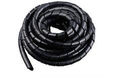 8 mm de diámetro 3 Mtrs Cable Conducto Cubierta Manga De Bobina Retardante Espiral FLEX NEGRO