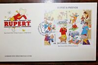 "FRANCOBOLLI GUERNSEY 1993 ""ORSETTO RUPERT DISNEY"" BUSTA I° GIORNO FDC (CAT.IC)"