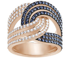 Swarovski 5372617 Lemon Knot Ring, Blue, Mixed Plating Size 55 RRP$249