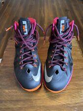 Nike Lebron 10 X floridian Sz 12 orange fireberry black 541100 005 Black Miami