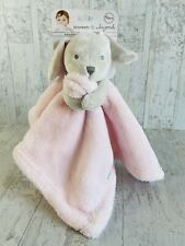 Blankets & Beyond Blanket Lovey Baby Pink Gray Bunny Rabbit Security Nunu