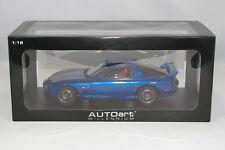 AUTOart 1/18 Mazda RX-7 (FD3S) Spirit R Type A Blue 2002 BBS Wheels #75988
