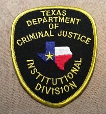 TX Texas Department of Criminal Justice Institutional Division Patch