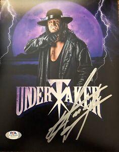 Undertaker Signed Autographed WWE 8x10 PSA DNA COA ! #1