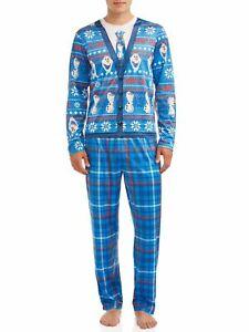 NWT DISNEY Men's 2 Piece Pajama Set Frozen II Olaf I Love Warm Hugs Size 2XL
