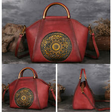 Women Vintage Tote Exquisite Special Design Retro Leather Bag Exotic Girls Bag