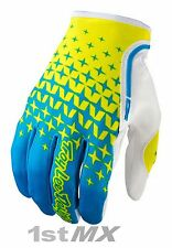 Troy LEE Design Starburst TLD Guantes de Carreras XC MOTOCROSS Cian Amarillo Adulto XXLarge