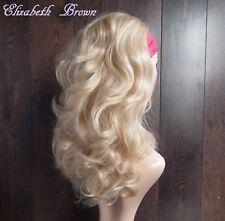 Mezcla Rubia Hermosa luz Capas Med Largo Rizado Peluca Peluca peluca la mitad de 3/4 088