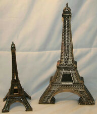 "10"" WOOD EFFIEL TOWER WALL HANGING & 6.75"" METAL EFFIEL TOWER FIGURE"