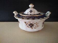 Antique English Porcelain Sucrier Sugar Box, Ridgway, Staffordshire C1825