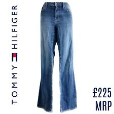 Tommy Hilfiger Jeans Flare Denim Boyfriend Relaxed Blue Boot Faded Size Small