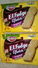 New listing (2) Keebler E.L Fudge Elfwich Cookies Butter Sandwich Fudge Cream (Exp. 10/2020)