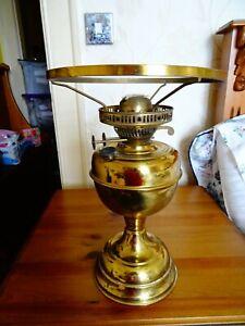 Vintage English made brass oil lamp Duplex burner & snuffer arm 2 new wicks