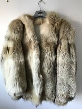 Coyote Fur Coat. Unisex With Hood