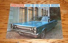 Original 1967 AMC American Motors Ambassador Sales Brochure 67