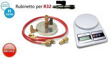 SUPPORTO PIATTELLO BOMBOLA GAS R410A R32 R134A etc + BILANCIA + RUBINETTO R32