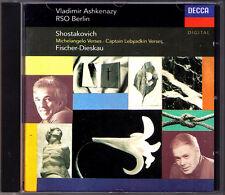 ASHKENAZY: SHOSTAKOVICH Michelangelo Buonarroti Cap Lebyadkin FISCHER-DIESKAU CD
