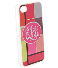 Personalized iPhone 4 4S Custom Monogrammed Hard Case Clear Transparent  Cover