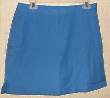 EXCELLENT WOMENS GREG NORMAN PLAY DRY WICKING ADJUSTABLE WAIST BLUE SKORT SIZE 6