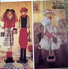"Cotton Way dowel doll pattern uncut 22"" tall greeter Boy & Girl"