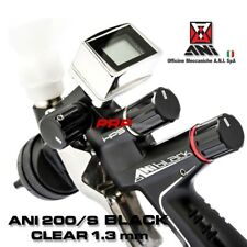ANI 200/S Black CLEAR 1,3 mm Pistola A Spruzzo Con Manometro Digitale TMD1