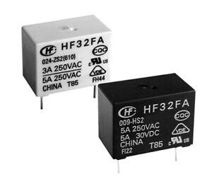 4 pcs. HF32FA/012-HSL1  HONGFA  Relais  Relay  SPST-NO  12VDC  5A  720R NEW  #BP