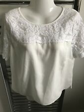 "Ladies Pretty Cream Top (Size 40"" Bust)"