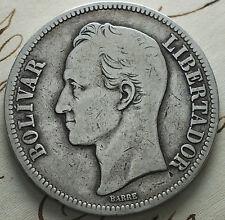 1924 Venezuela 5 Bolivares ARGENTO