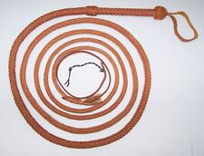 14 Foot 12 Plait Tan Real Leather Bullwhip New Indiana Jones Stuntman Bull Whip
