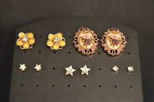 Lot of 5 Pairs  STUD EARRINGS  Flowers  Stars   Fashion Jewelry USA SELLER  EXC!