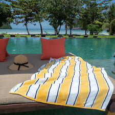Oversized Extra Thick Beach Towel - 35x70 in - 600 Gsm -Pinstripes - Soft Cotton