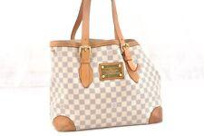 Auth Louis Vuitton Damier Azur Hampstead MM Shoulder Tote Bag N51206 LV 58882