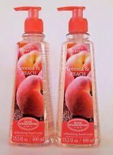 2X Simple Pleasures Freesia & Peach Refreshing Hand Soap 13.5 oz