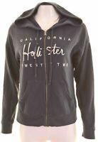 HOLLISTER Womens Hoodie Sweater Size 14 Medium Navy Blue Cotton  BX17