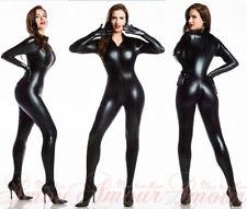 PVC Bandage CATWOMAN Hen COSTUME Catsuit Jumpsuit Teddie ClubWear & gloves B7055
