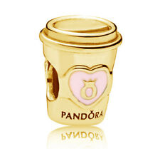 Genuine PANDORA Drink to Go Charm 14k Gold Vermeil 797185EN160 Gold Plated