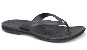 Crocs Flip Flops Thongs Crocband Cardio Wave Flip Relaxed Fit - Graphite/Black