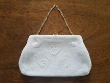 Vintage Saks Fifth Avenue, Beaded Handbag / Purse / Clutch, Gold Chain, Belgium