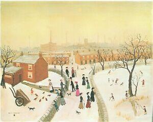 Mounted Print. Helen Bradley. Snow before Christmas