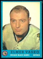 1962-63 TOPPS HOCKEY #27 Elmer Vasko NM Chicago Blackhawks Card