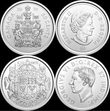 2021 Canada 100th Anniversary and Regular Half Dollars