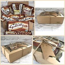 Galaxy Minstrels chocolate gift hamper set wrapped with Gift Tag & Charm