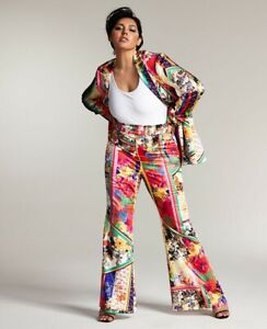 Small Misa Hylton for INC Satin Flare Pants, Created for Macy's nwt