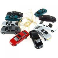 1/100 Plastic Miniature Cars HO Scale for Train Railway Scene DIY Layout